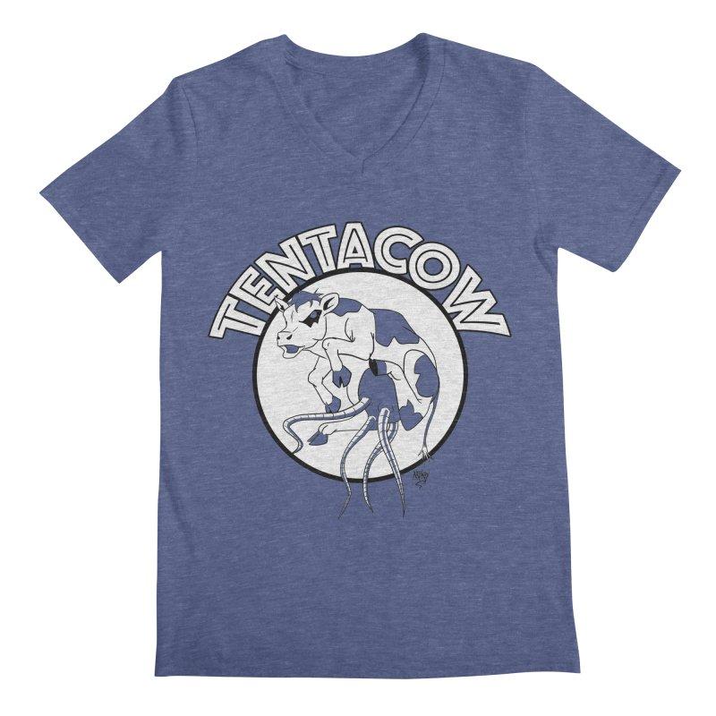 Tentacow Men's V-Neck by Comedyrockgeek 's Artist Shop