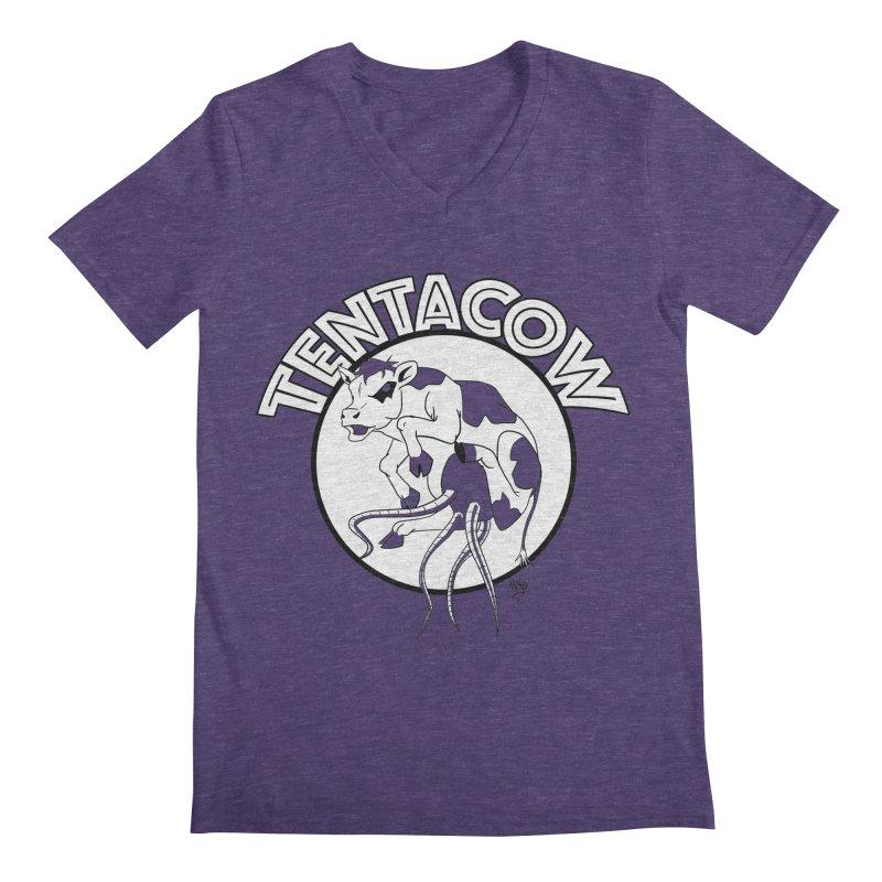 Tentacow Men's Regular V-Neck by Comedyrockgeek 's Artist Shop