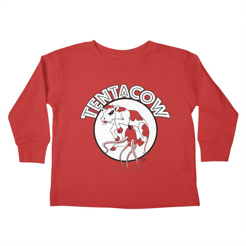 Tentacow Kids Toddler Longsleeve T-Shirt by Comedyrockgeek 's Artist Shop