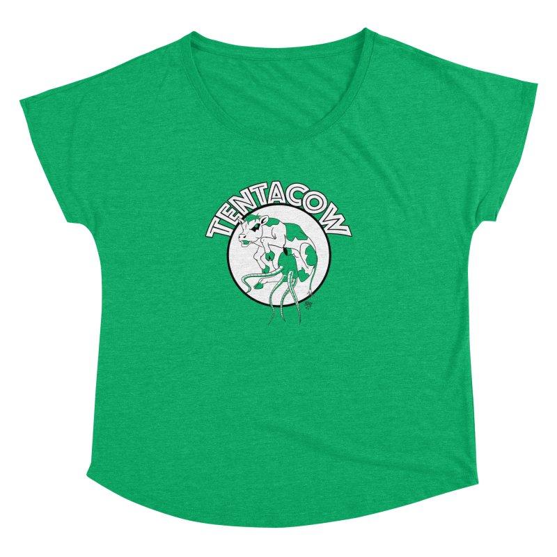 Tentacow Women's Dolman Scoop Neck by Comedyrockgeek 's Artist Shop