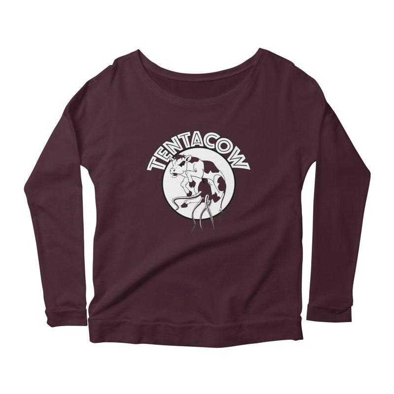 Tentacow Women's Longsleeve Scoopneck  by Comedyrockgeek 's Artist Shop