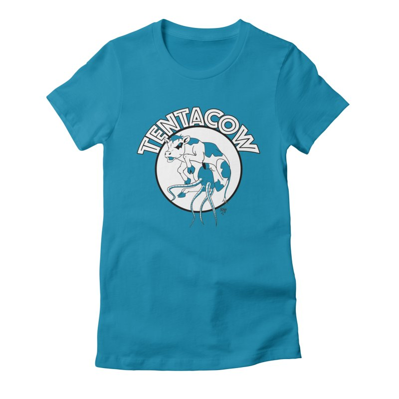 Tentacow Women's Fitted T-Shirt by Comedyrockgeek 's Artist Shop