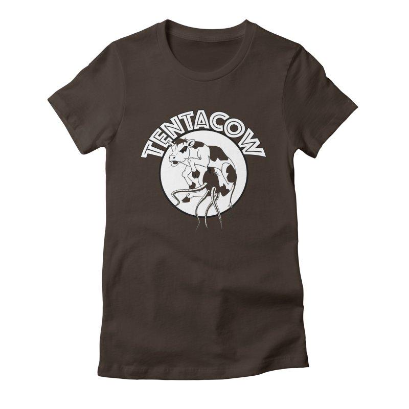 Tentacow Women's Fitted T-Shirt by Comedyrockgeek 's Artist Shop