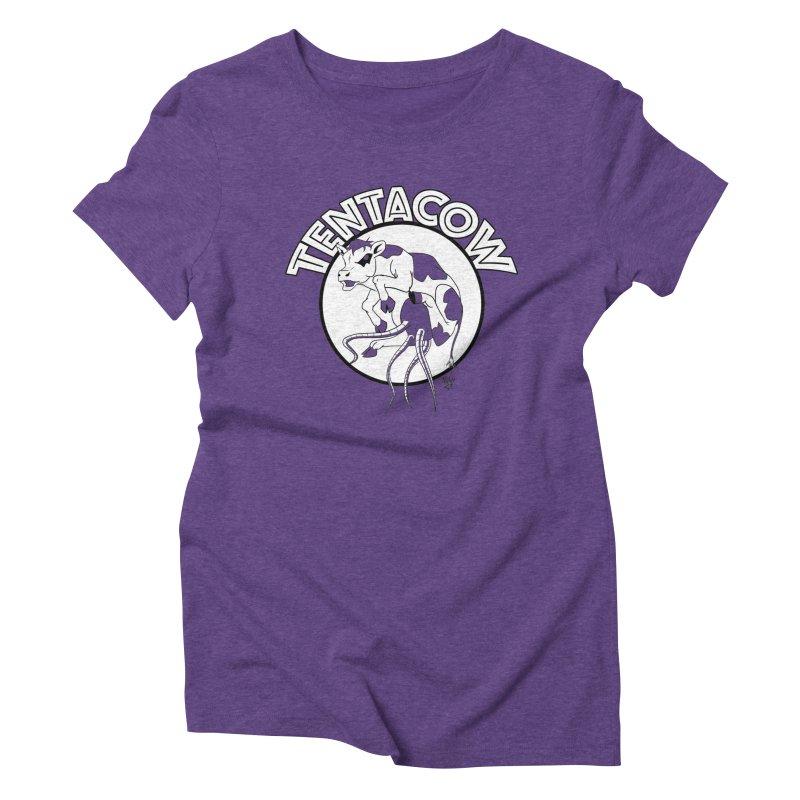 Tentacow Women's Triblend T-Shirt by Comedyrockgeek 's Artist Shop