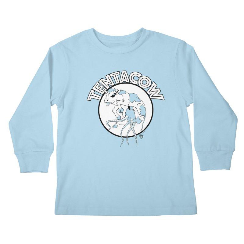 Tentacow Kids Longsleeve T-Shirt by Comedyrockgeek 's Artist Shop