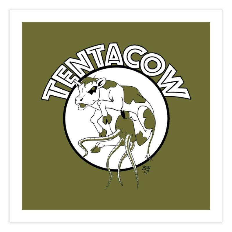 Tentacow Home Fine Art Print by Comedyrockgeek 's Artist Shop