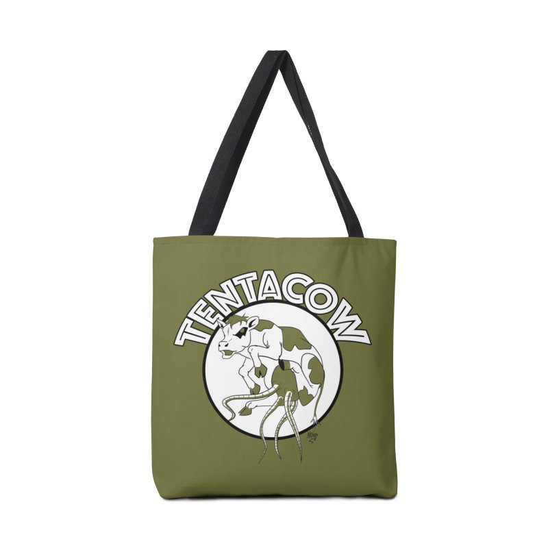 Tentacow Accessories Tote Bag Bag by Comedyrockgeek 's Artist Shop