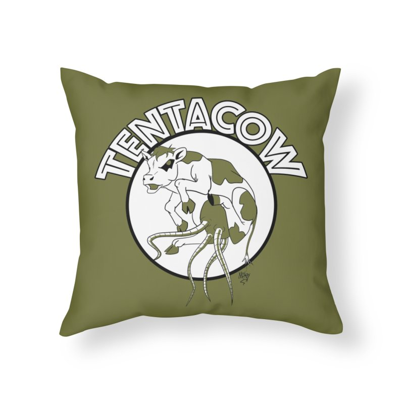 Tentacow Home Throw Pillow by Comedyrockgeek 's Artist Shop