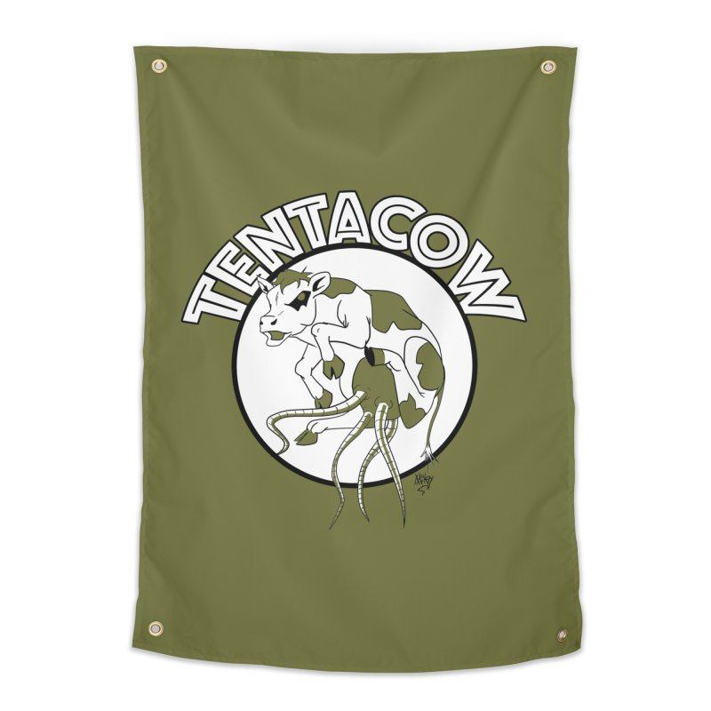 Tentacow Home Tapestry by Comedyrockgeek 's Artist Shop