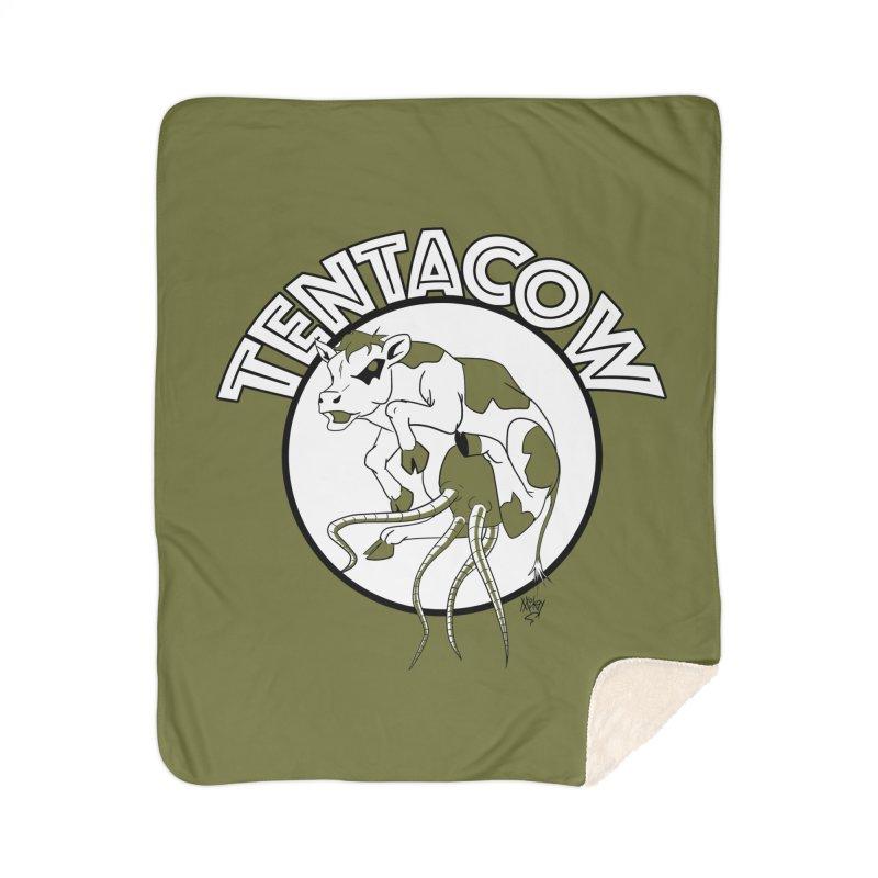 Tentacow Home Sherpa Blanket Blanket by Comedyrockgeek 's Artist Shop