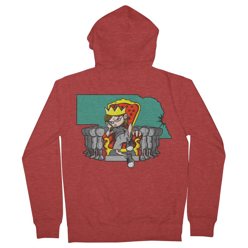 King of Nebraska Women's Zip-Up Hoody by Comedyrockgeek 's Artist Shop