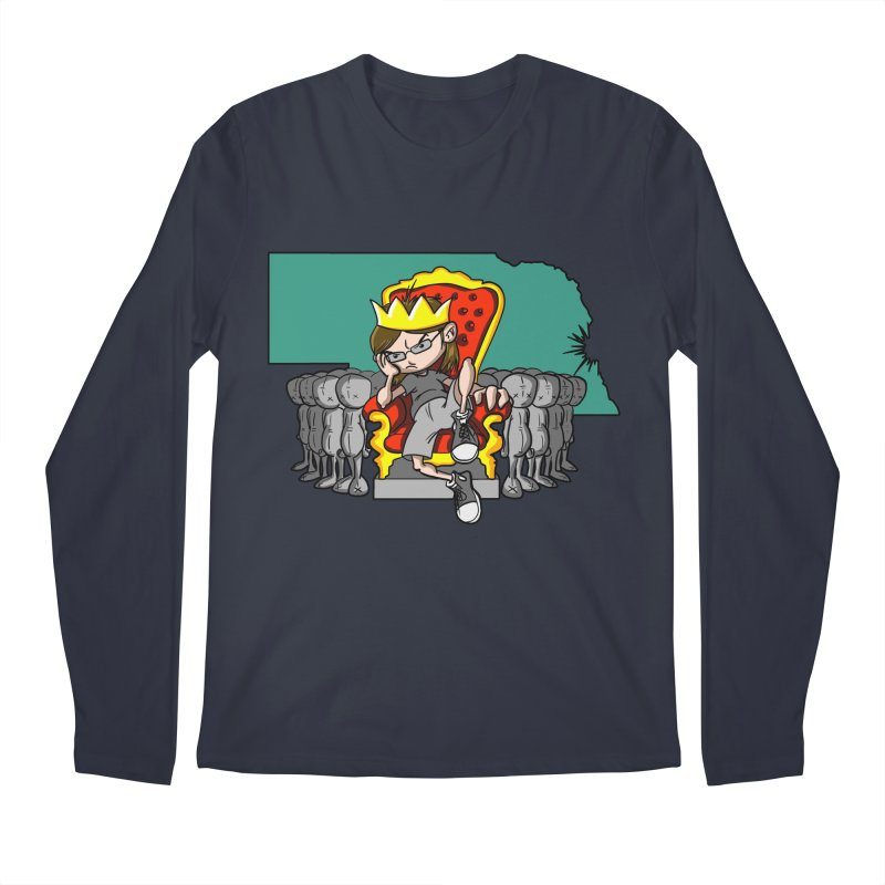 King of Nebraska Men's Regular Longsleeve T-Shirt by Comedyrockgeek 's Artist Shop