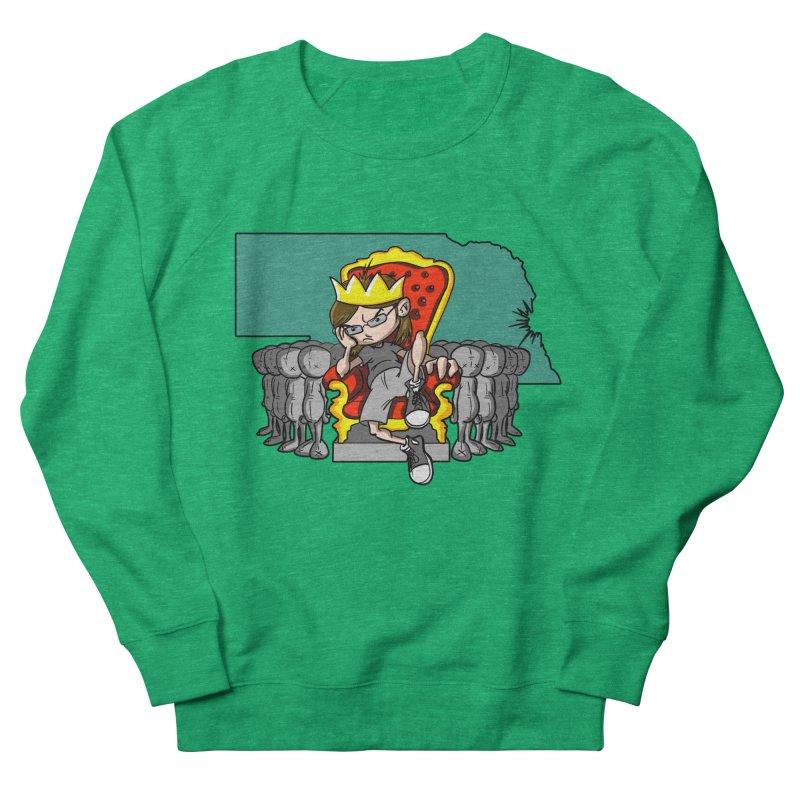 King of Nebraska Men's Sweatshirt by Comedyrockgeek 's Artist Shop