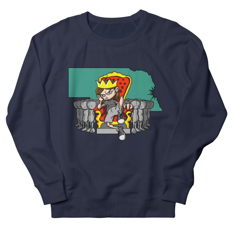 King of Nebraska Men's French Terry Sweatshirt by Comedyrockgeek 's Artist Shop
