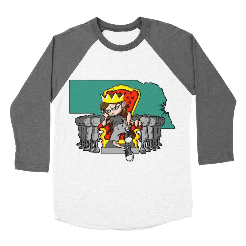 King of Nebraska Women's Baseball Triblend T-Shirt by Comedyrockgeek 's Artist Shop