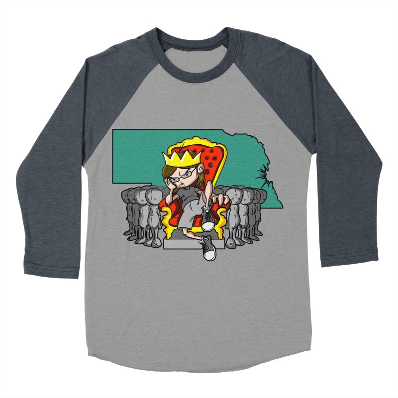 King of Nebraska Women's Baseball Triblend Longsleeve T-Shirt by Comedyrockgeek 's Artist Shop