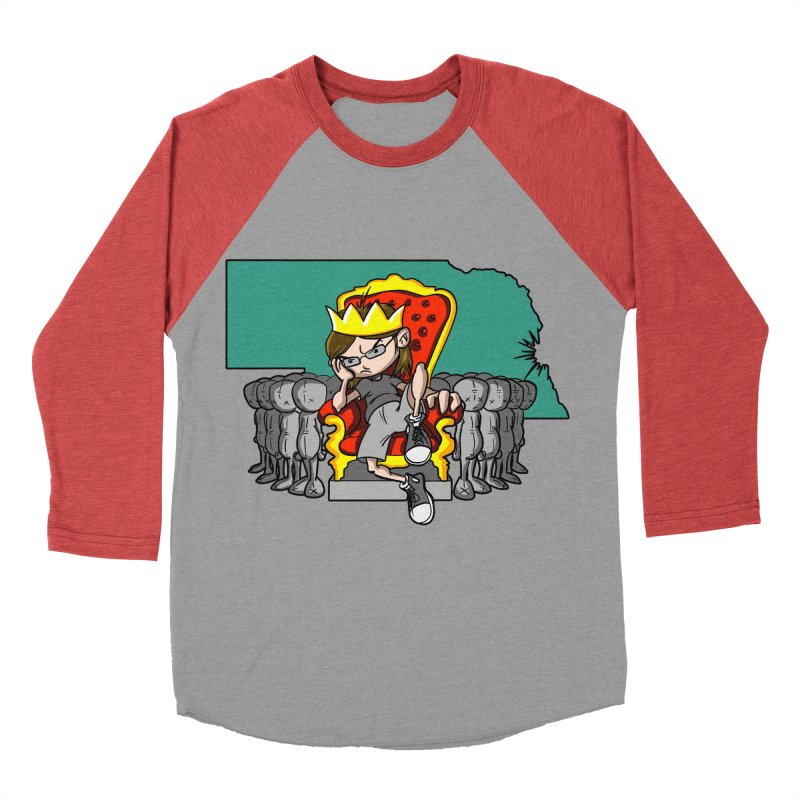 King of Nebraska Men's Baseball Triblend T-Shirt by Comedyrockgeek 's Artist Shop