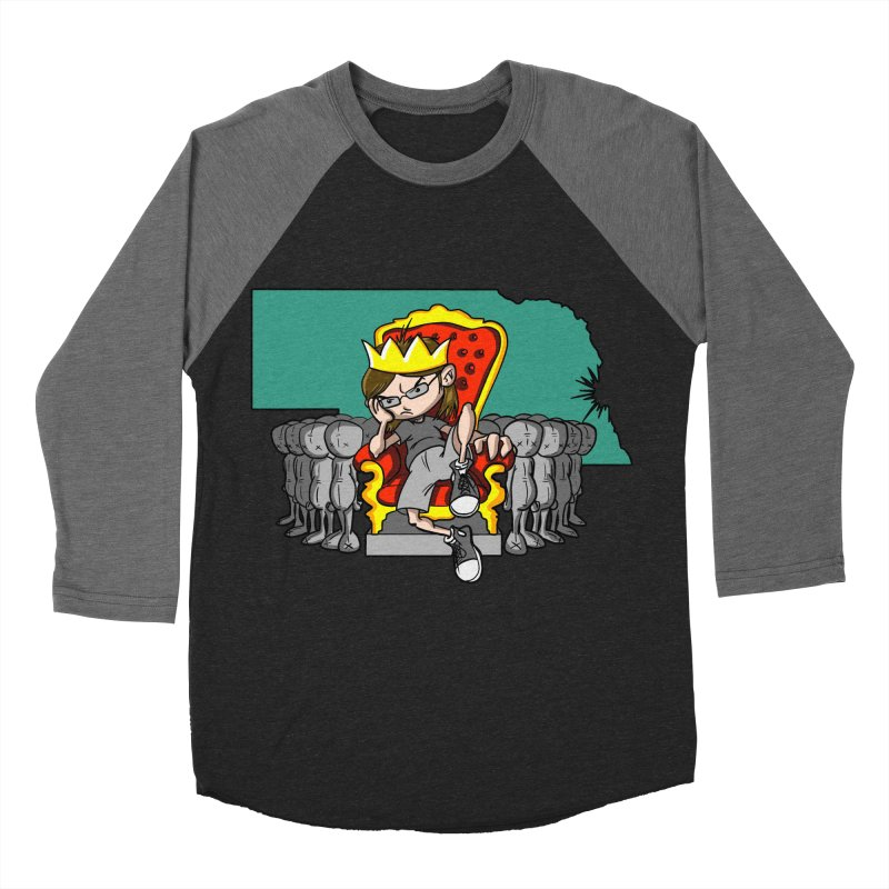 King of Nebraska Men's Baseball Triblend Longsleeve T-Shirt by Comedyrockgeek 's Artist Shop