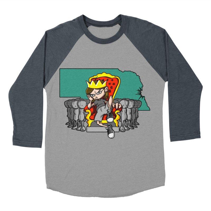 King of Nebraska Men's Baseball Triblend T-Shirt by Comedyrockgeek 's Artist Shop