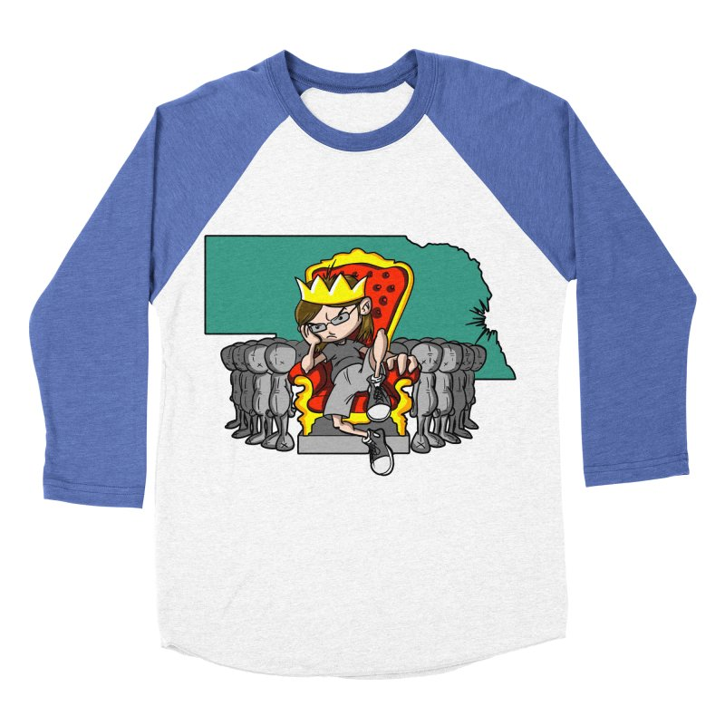King of Nebraska Men's Baseball Triblend Longsleeve T-Shirt by Comedyrockgeek 's Artist Shop
