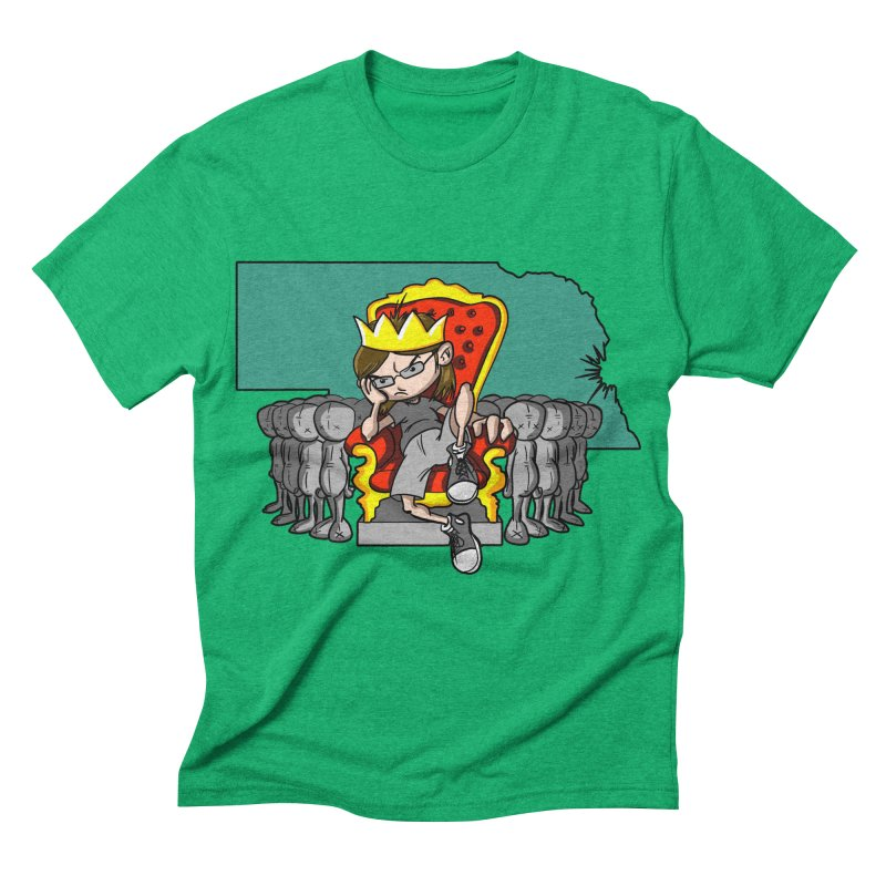 King of Nebraska Men's Triblend T-shirt by Comedyrockgeek 's Artist Shop
