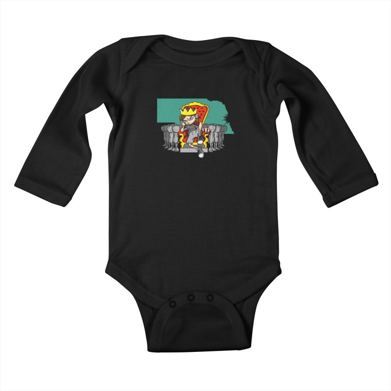 King of Nebraska Kids Baby Longsleeve Bodysuit by Comedyrockgeek 's Artist Shop