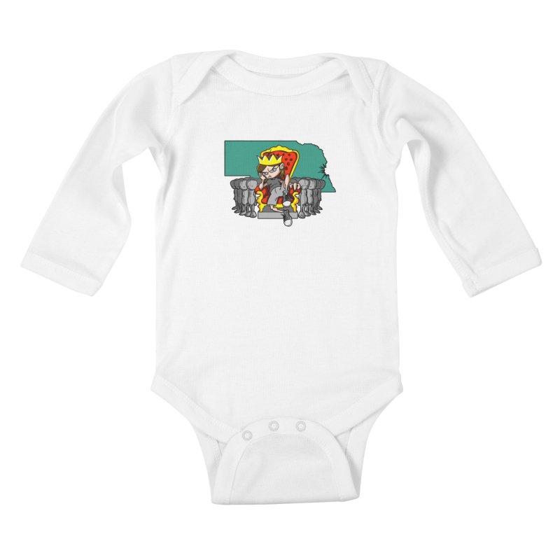 King of Nebraska Kids Baby Longsleeve Bodysuit by Comedyrockgeek 's Artist Shop