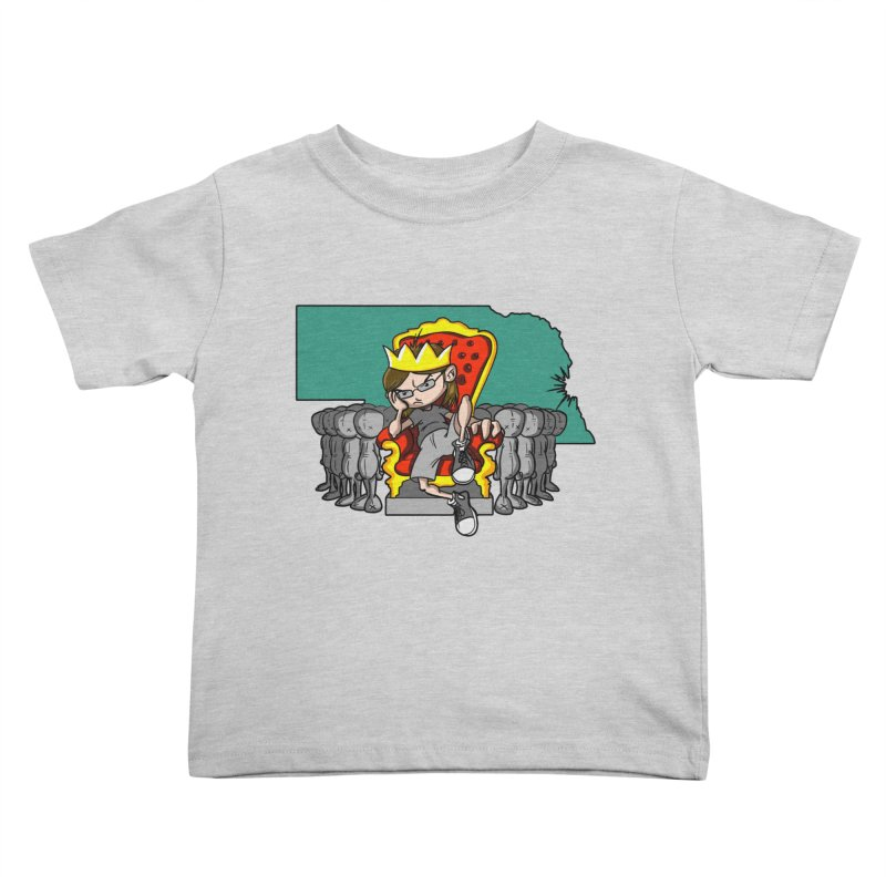 King of Nebraska Kids Toddler T-Shirt by Comedyrockgeek 's Artist Shop