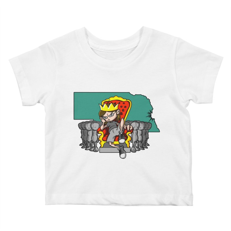 King of Nebraska Kids Baby T-Shirt by Comedyrockgeek 's Artist Shop