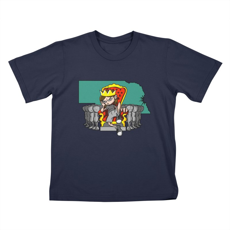 King of Nebraska Kids T-shirt by Comedyrockgeek 's Artist Shop
