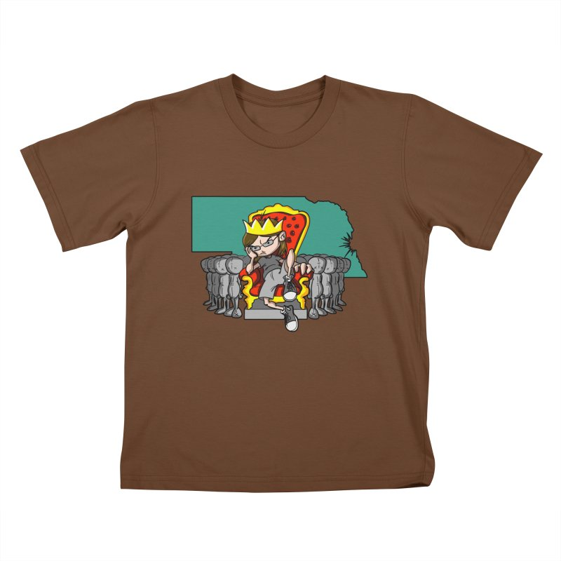 King of Nebraska Kids T-Shirt by Comedyrockgeek 's Artist Shop