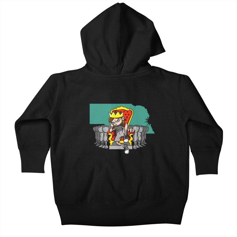 King of Nebraska Kids Baby Zip-Up Hoody by Comedyrockgeek 's Artist Shop
