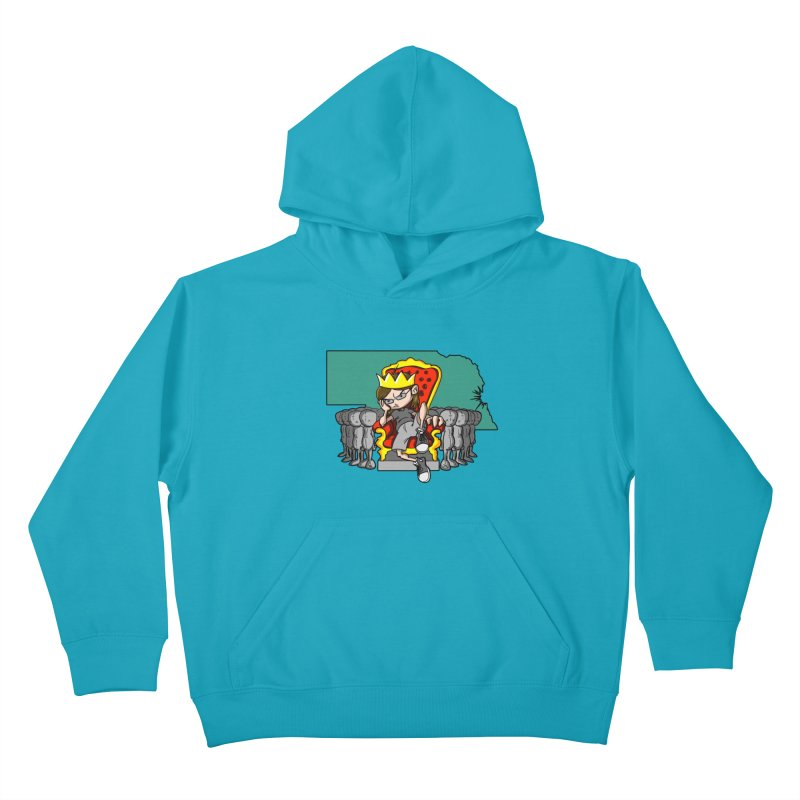 King of Nebraska Kids Pullover Hoody by Comedyrockgeek 's Artist Shop