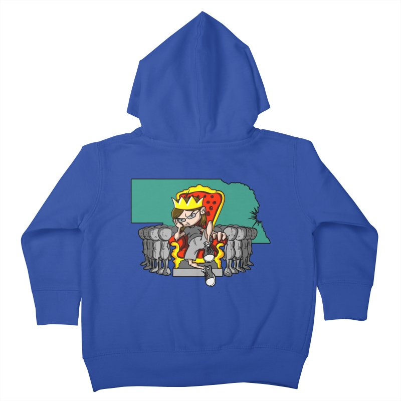 King of Nebraska Kids Toddler Zip-Up Hoody by Comedyrockgeek 's Artist Shop