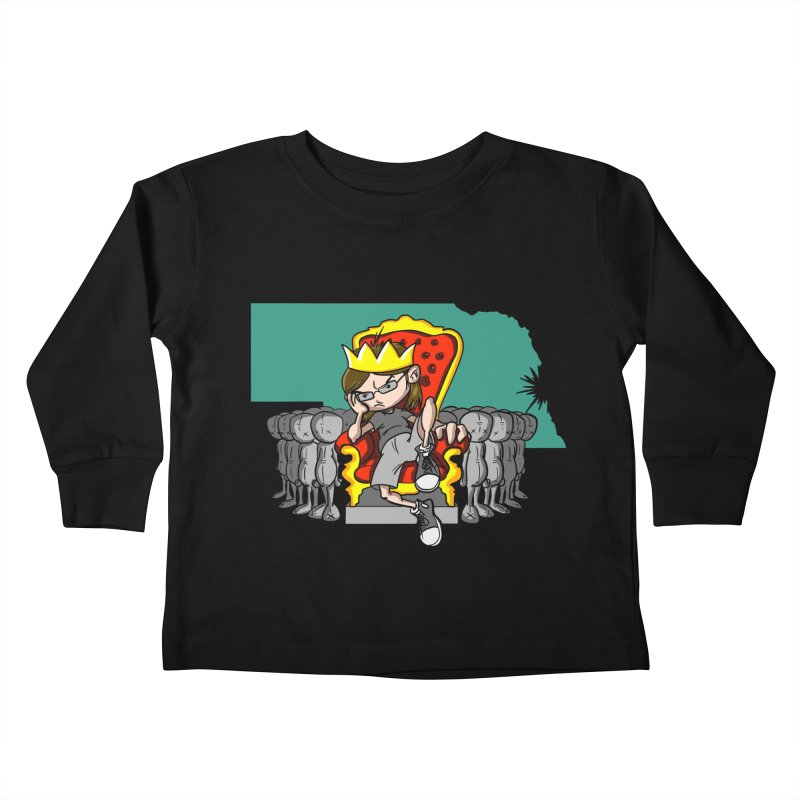 King of Nebraska Kids Toddler Longsleeve T-Shirt by Comedyrockgeek 's Artist Shop