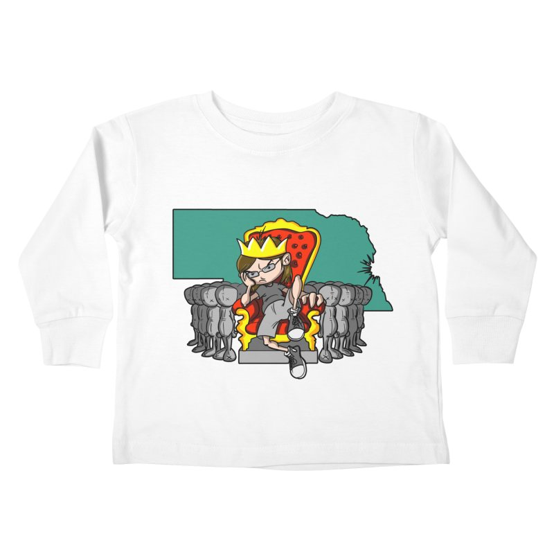 King of Nebraska Kids Toddler Longsleeve T-Shirt by Comedyrockgeek 's Artist Shop