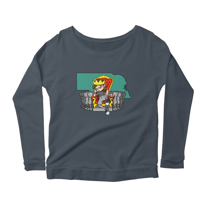 King of Nebraska Women's Scoop Neck Longsleeve T-Shirt by Comedyrockgeek 's Artist Shop