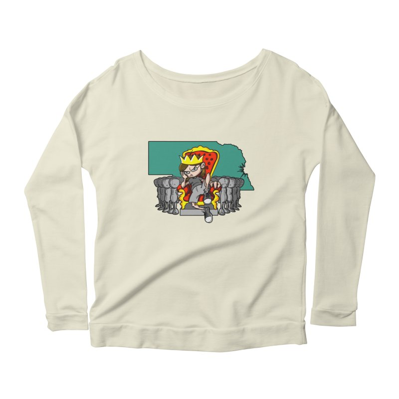 King of Nebraska Women's Longsleeve Scoopneck  by Comedyrockgeek 's Artist Shop