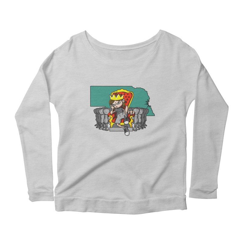 King of Nebraska Women's Scoop Neck Longsleeve T-Shirt by Comedyrockgeek 's Artist Shop