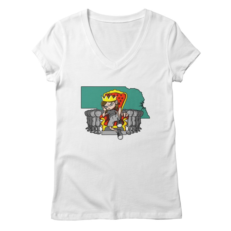 King of Nebraska Women's Regular V-Neck by Comedyrockgeek 's Artist Shop