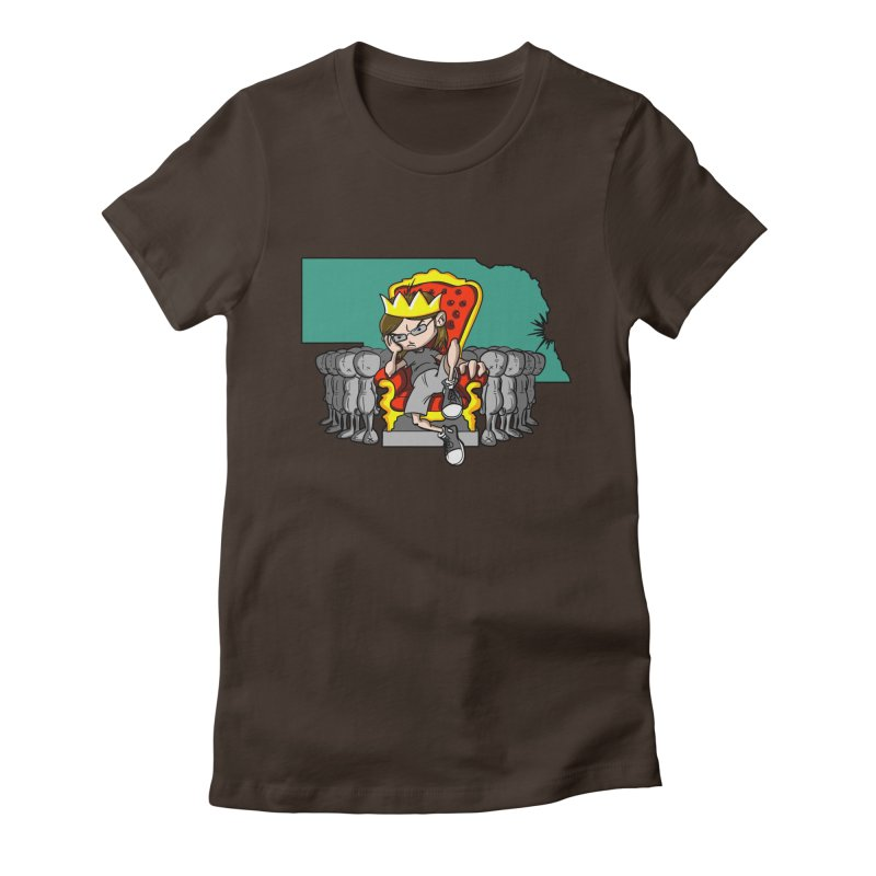King of Nebraska Women's Fitted T-Shirt by Comedyrockgeek 's Artist Shop