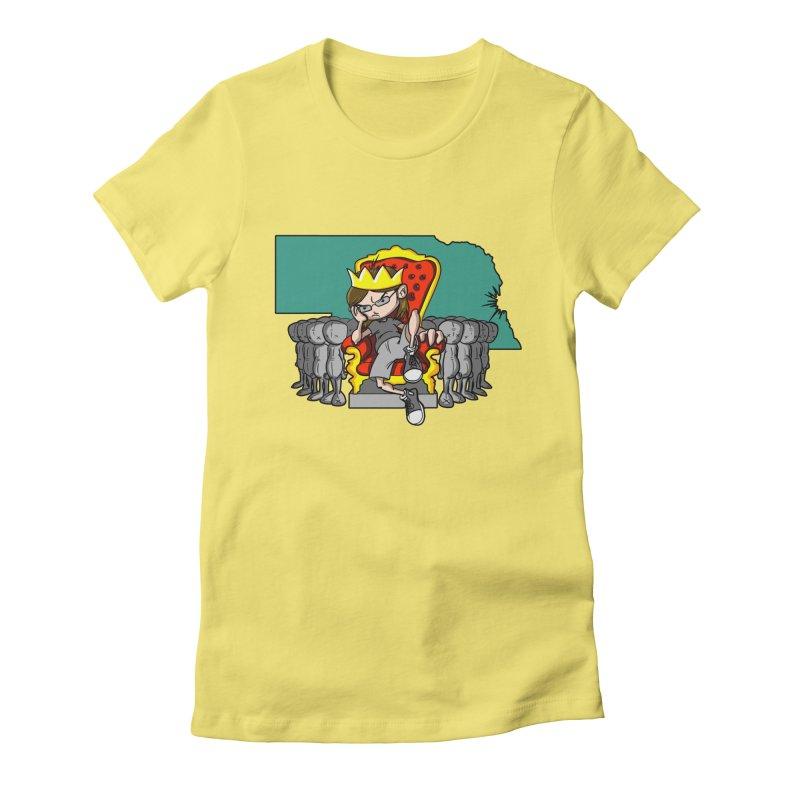 King of Nebraska Women's Fitted T-Shirt by Comedyrockgeek 's Artist Shop