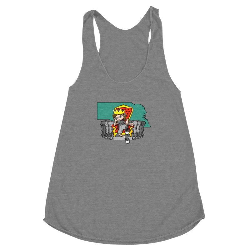 King of Nebraska Women's Racerback Triblend Tank by Comedyrockgeek 's Artist Shop
