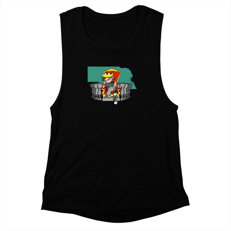 King of Nebraska Women's Muscle Tank by Comedyrockgeek 's Artist Shop
