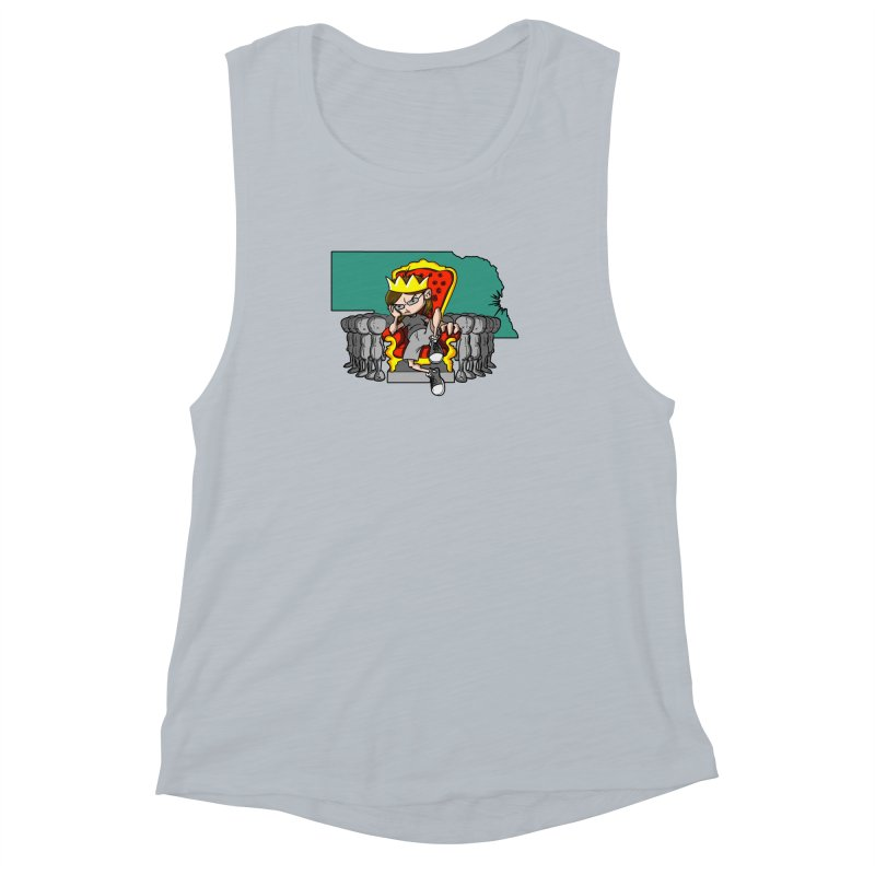 King of Nebraska Women's Muscle Tank by Comedyrockgeek 's Artist Shop