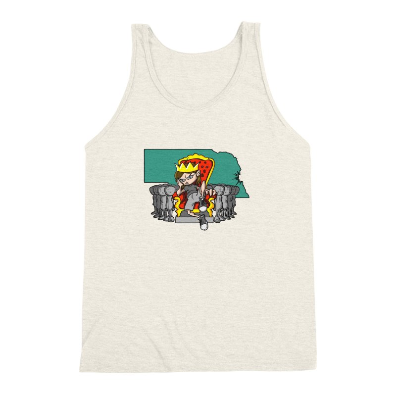 King of Nebraska Men's Triblend Tank by Comedyrockgeek 's Artist Shop