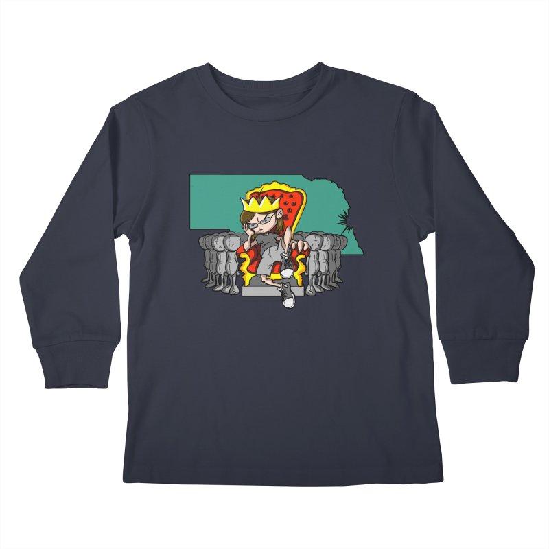 King of Nebraska Kids Longsleeve T-Shirt by Comedyrockgeek 's Artist Shop
