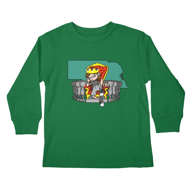 King of Nebraska Kids Longsleeve T-Shirt by Comedyrockgeek 's Artist Shop