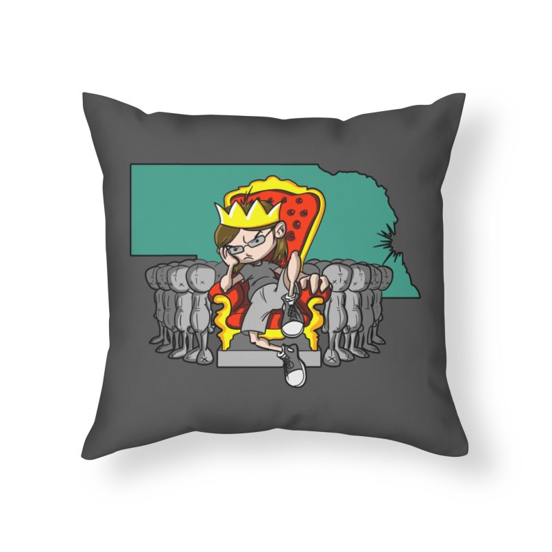 King of Nebraska Home Throw Pillow by Comedyrockgeek 's Artist Shop