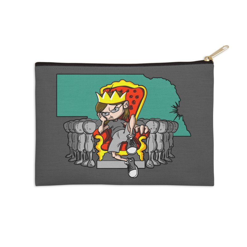King of Nebraska Accessories Zip Pouch by Comedyrockgeek 's Artist Shop